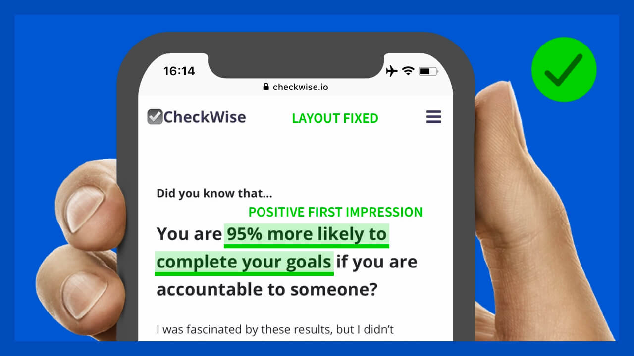 CheckWise homepage my revision