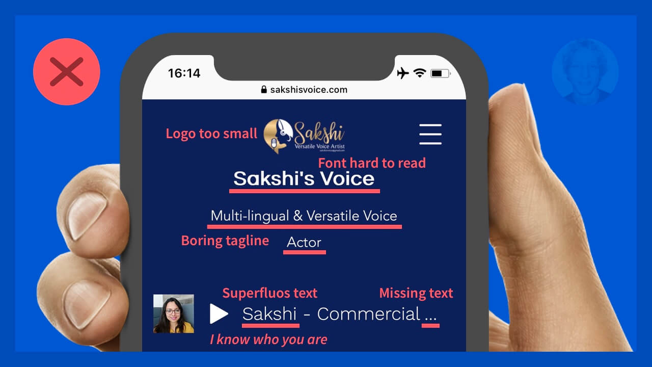 Sakshi's Voice homepage original